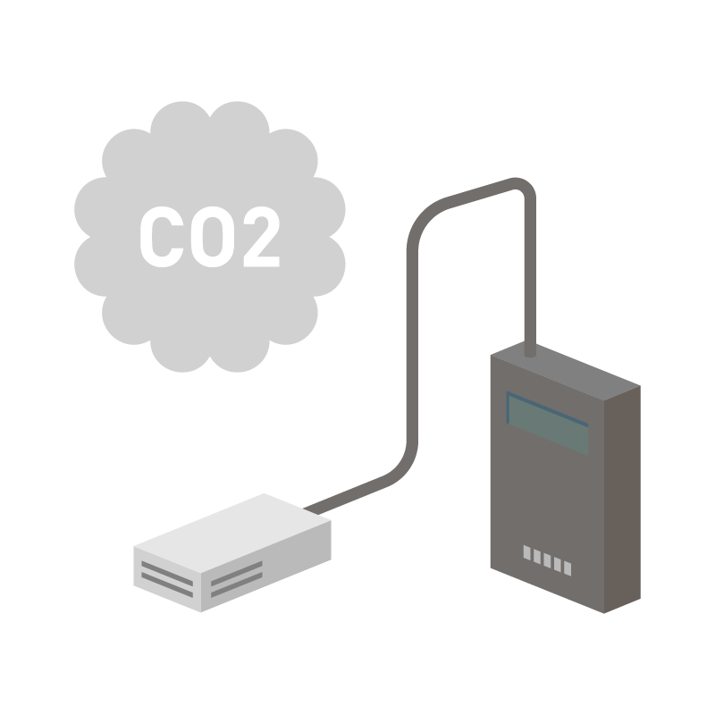 CO2濃度センサーのイラスト 素材